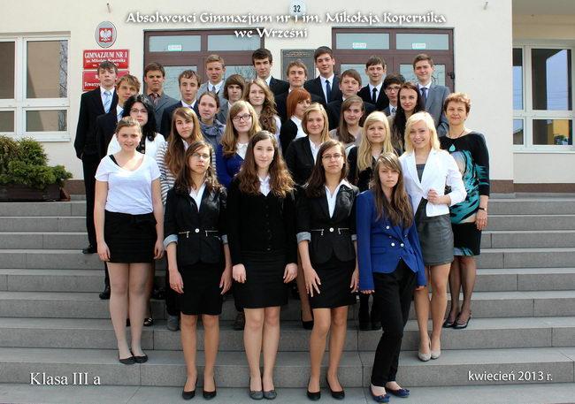 Absolwenci rocznik 2013 klasa A