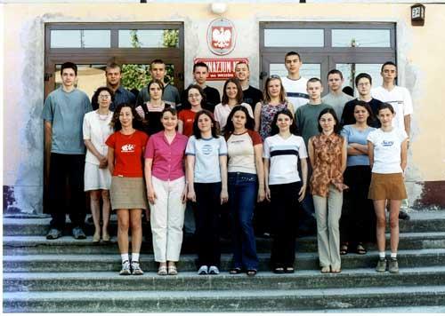 Absolwenci rocznik 2002 klasa G
