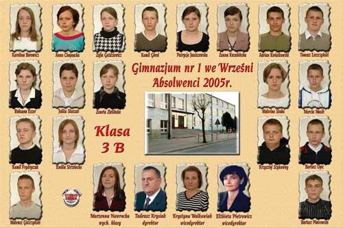 Absolwenci rocznik 2005 klasa B