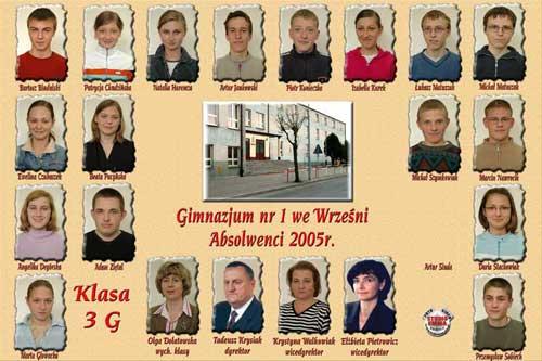 Absolwenci rocznik 2005 klasa G
