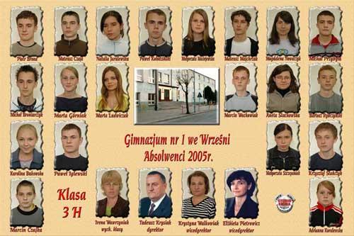 Absolwenci rocznik 2005 klasa H