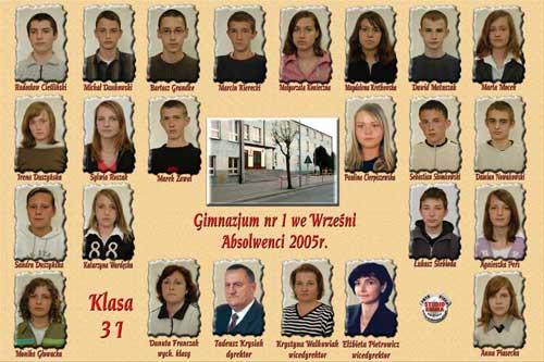 Absolwenci rocznik 2005 klasa I