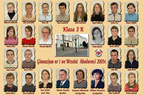 Absolwenci rocznik 2005 klasa K
