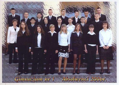Absolwenci rocznik 2006 klasa I