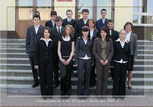 Absolwenci rocznik 2007 klasa I
