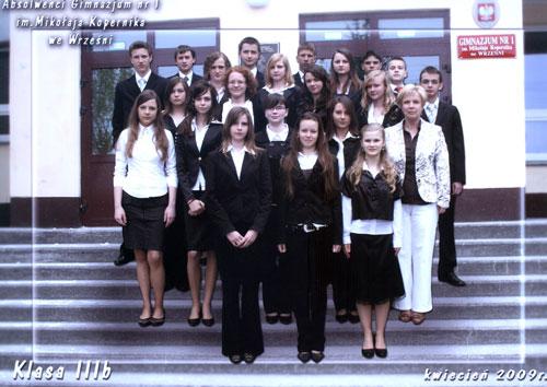 Absolwenci rocznik 2009 klasa B