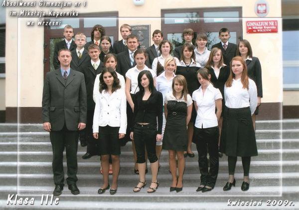 Absolwenci rocznik 2009 klasa C