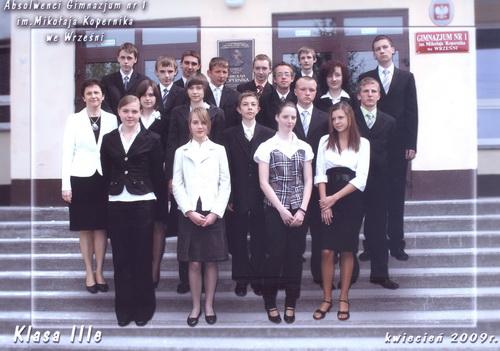 Absolwenci rocznik 2009 klasa E