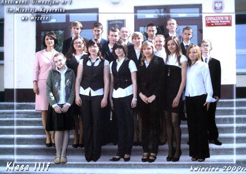 Absolwenci rocznik 2009 klasa F