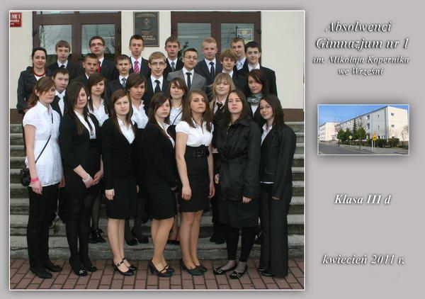 Absolwenci rocznik 2011 klasa D