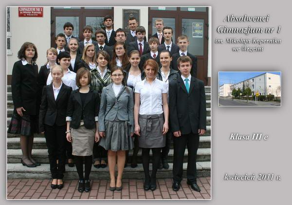 Absolwenci rocznik 2011 klasa E