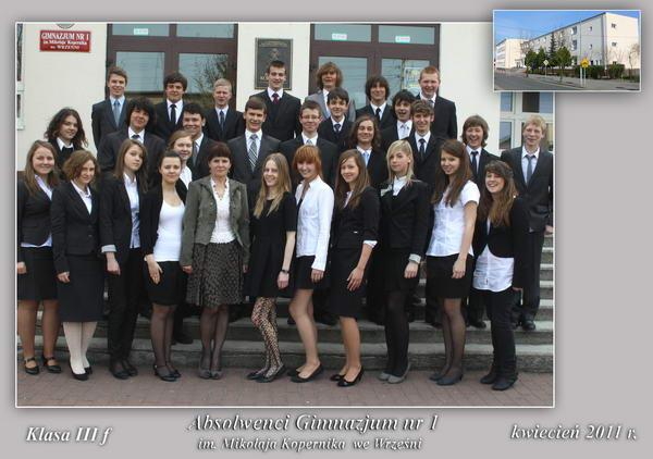 Absolwenci rocznik 2011 klasa F